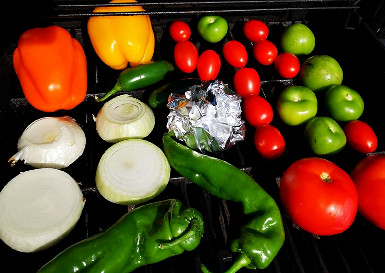 Roasting Salsa Veggies