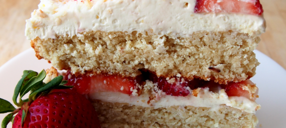 Almond Flour Strawberry Shortcake Cake