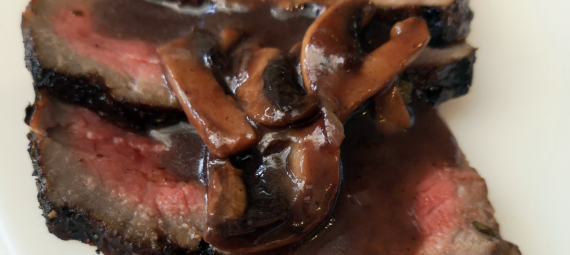 Mushroom Sauce with Red Wine