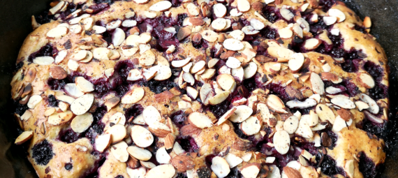 Blackberry Clafoutis with Toasted Almonds