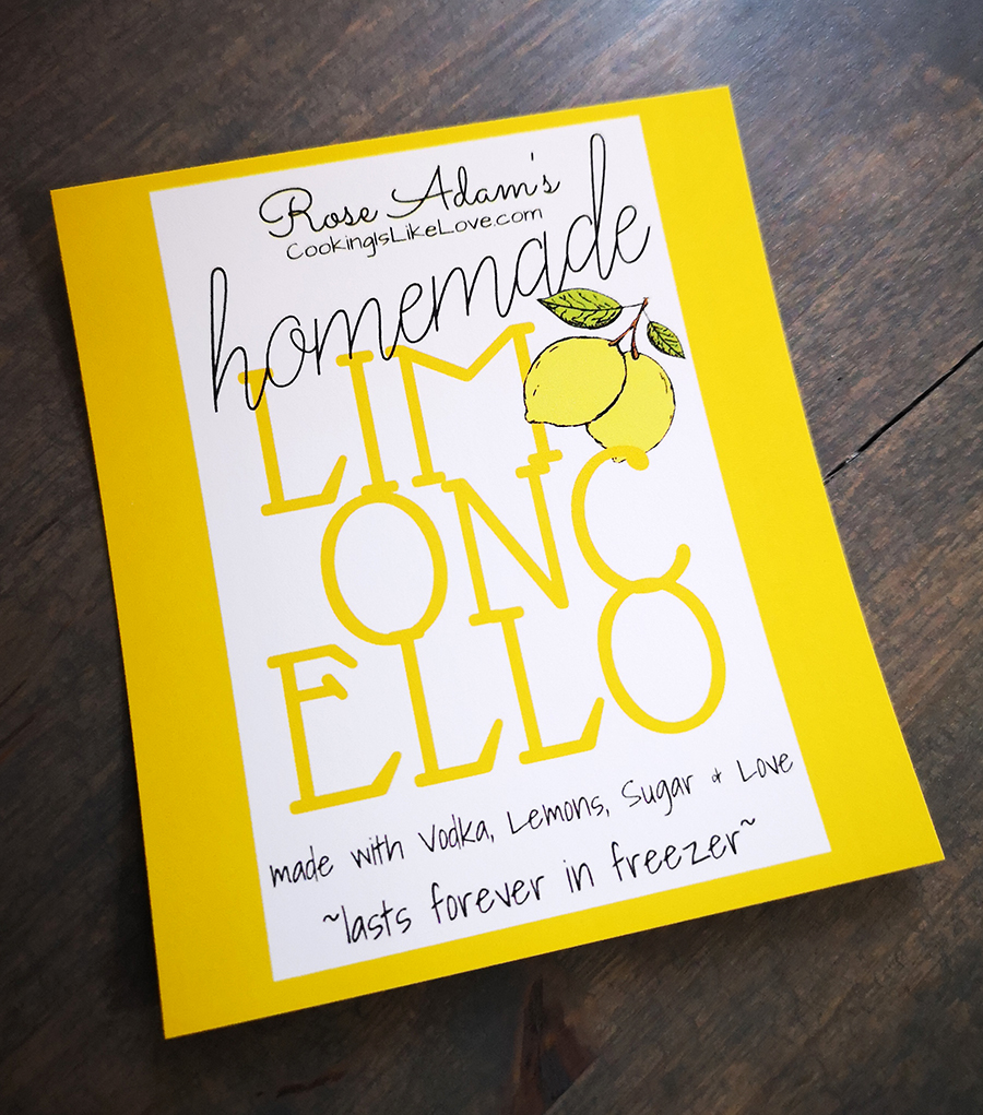 Limoncello Labels