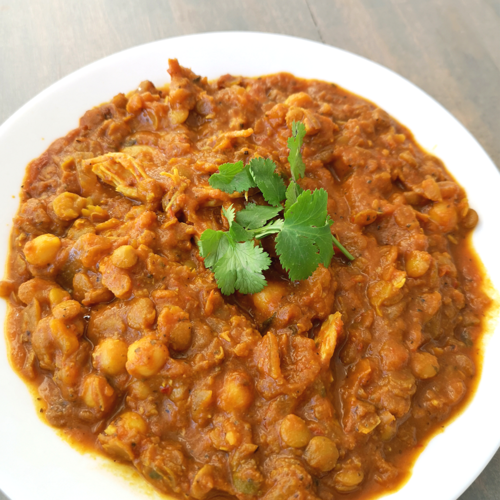 Indian Lentils with Chicken