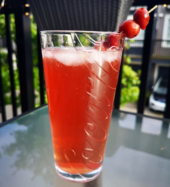 Drunken Cherry Cocktail
