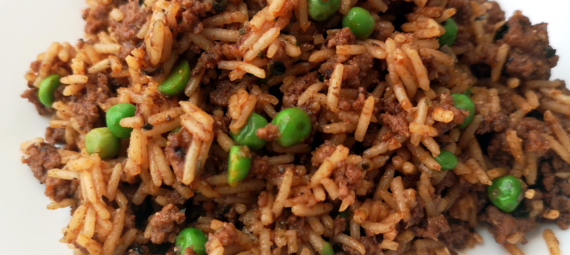 Birdseye - A Mix of Beef, Rice, and Peas