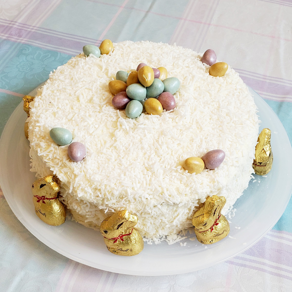 Mounds Cake with Coconut Icing